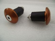 Motorcycle Bar End Plugs - Crash Protectors copper alloy for 22mm steel bars